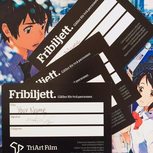 """Tävling – vinn fribiljetter till """"Your name"""""""