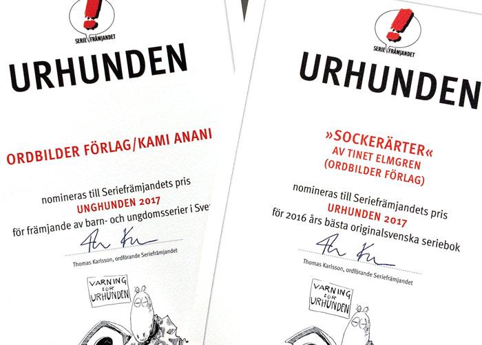 Ordbilder får två nomineringar till Urhundenpris