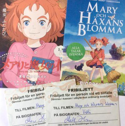 Vinn biljetter till Mary och häxans blomma!